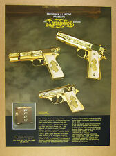 1986 Colt 45 Browning 9mm & Walther PPK-S Dragonfire Edition pistols print Ad