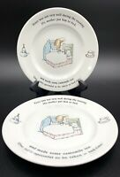 "Set of 4 Fredrick Warne & Co 93 Wedgewood Peter Rabbit Plates 7"" Sick In Bed"