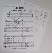 """Lou Reed VELVET UNDERGROUND Signed Autograph """"Walk On The Wild Side"""" Sheet Music"""