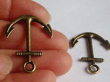 10 anchor charms pendants bronze antique jewellery making wholesale UK WV11