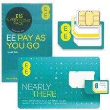 United Kingdom Triple Cut EE Mobile Phone SIM Cards