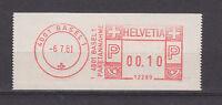 Schweiz - ATM vom 6.7.81, 4001 Basel 1 / Paketannahme [12289] - bitte ansehen !!