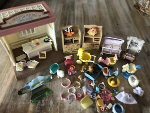 Sylvanian Families Sweet Store, School And Nursery Miscellaneous Items