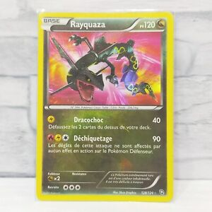Pokemon card Rayquaza 128/124 Dragons Exalted Holo Rare Secret Rare TCG 【Good】