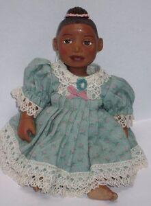 ABC Zena Afro African American Brown Black Dark New Resin Baby Girl Doll
