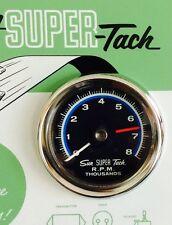 NOS Shelby vintage Sun Super Tach SST-802 8000 RPM NIB & NOS NC-5 chrome cup!