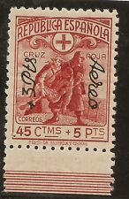Edifil  768** Mnh LUJO  Cruz Roja Española  45 Céntimos aéreo 1938  NL1149