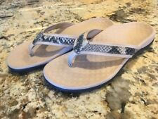 Vionic Tide II Flip Flops Sandals Thongs Tong Size 7 Snakeskin