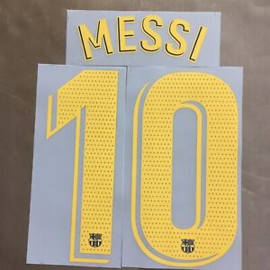 2018/19 2019/20 2020/21 Barcelona Home #10 Messi Player Issue Nameset Print NEW