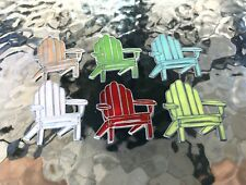 SUMMER IS ALWAYS WITH US 2 ADIRONDACK BEACH CHAIR PINS YOUR CHOICE OF COLORS