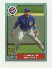 ADDISON RUSSELL 2017 TOPPS CHROME REFRACTOR 87T-17 CHICAGO CUBS MT!