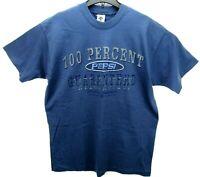Vintage PEPSI Size XL T Shirt RARE Single Stitch Blue
