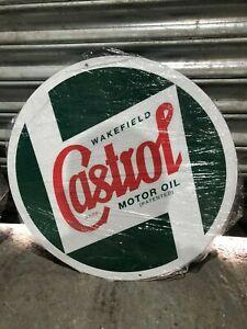 "Castrol oil X Large 20"" 500mm Round metal sign. Man cave/ garage/ shed."