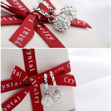 Charm Earring Jewelry Women Ear Studs Princess Rhinestone Silver Plated Earrings