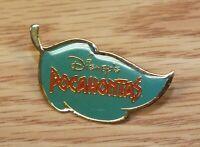 Genuine Disney's Pocahontas Green & Gold Tone Trim Leaf Collectible Pin