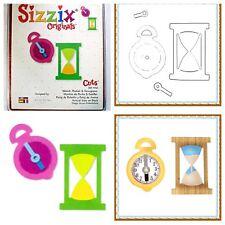 Sizzix Die Watch Pocket Clock Hourglass Scrapbook Diecut Retired Steampunk NEW