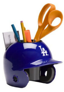 Los Angeles Dodgers MLB Baseball Schutt Mini Batting Helmet Desk Caddy/Organizer