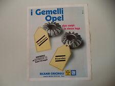 advertising Pubblicità 1973 RICAMBI ORIGINALI OPEL GM