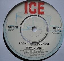 """EDDY GRANT-Je ne veux pas danser-excellent état Unique 7"""" Ice Glace 56"""