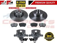 FOR NISSAN PRIMASTAR 2001- REAR LEFT RIGHT BRAKE CALIPERS DISCS AND BRAKE PADS