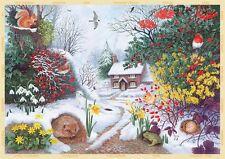 NEW! Falcon de luxe Winter Hedgerow 500 piece christmas wildlife jigsaw puzzle