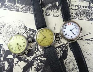3x WW1 FIRST WORLD WAR ERA TRENCH WATCHES WRISTWATCHES - INGERSOLL, SILVER?