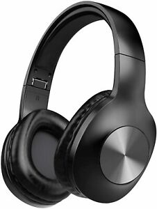 LETSCOM H10 BLACK Bluetooth 5.0 Over Ear with Deep bass Built-in Mic Headphones