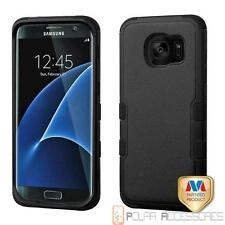 For SAMSUNG Galaxy S7 edge Natural Black TUFF Hybrid Case Cover