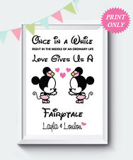 Personalised Gay  Minnie & Minnie Disney Print Girlfriend & Girlfriend Gift