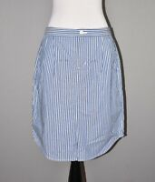 BANANA REPUBLIC NEW $78 Blue White Relaxed Striped Pencil Skirt Size 4