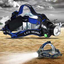 rechargeable CREE XM-L T6 LED Headlamp Flashlight zoomable Head Light Torch Lamp