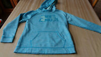 Under Armour Sz YMD Youth large Hoodie Loose Fit Fleece Lined blue Purple