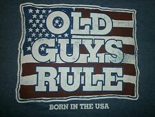 """(3) OLD GUYS RULE """" BORN IN THE USA """" ALL SIZE XL S/S . YOU GET ALL THREE!!!"""