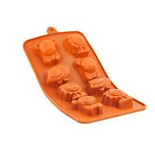 Bandeja De Chocolate Molde de Silicona Redondo Glaseado oficio Pastel Animales de Goma Hielo