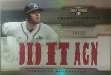 2014 Topps Triple Threads Relics #TTR-FF1 Freddie Freeman Atlanta Braves Card