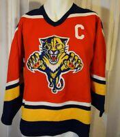 Vintage FLORIDA PANTHERS Jersey NHL Hockey CCM Maska Embroidered Crest Youth