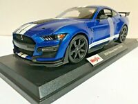 MAISTO 1:18 SPECIAL EDITION Die Cast 2020 FORD MUSTANG SHELBY GT500 BLUE 31388