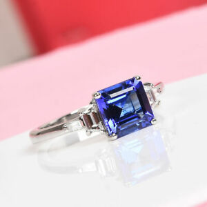 RHAPSODY AAAA Tanzanite and Diamond Anniversary Ring in 950 Platinum 2.10Ct