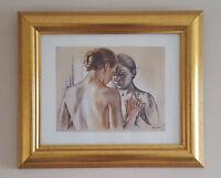 FRANCINE VAN HOVE - Gold Framed Print of 'Study for Isabelle' sketch