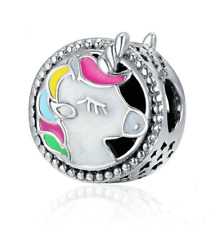 NEW 925 Silver unicorn European Charm Pendant Beads Fit Necklace Bracelet DIY !!