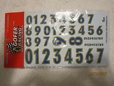 GOFER RACING 1/24 -1/25 SCALE DECALS STOCK CAR NUMBERS #1 #11013