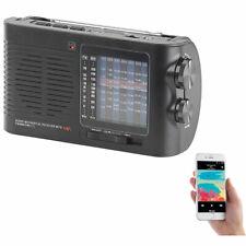 Radios: Analoger 9-Band-Weltempfänger mit Bluetooth, USB, SD, AUX und Akku