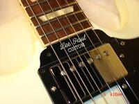 Gibson SG Guitar Tenon Cover Plate - Les Paul Custom - 2 ply Black/White