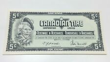 1974 Canadian Tire 5 Five Cents CTC-S4-B-TN Uncirculated Money Banknote E043
