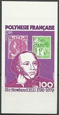 Polynesia 100th Death Anniversary of Sir Rowland Hill Imperf Proof Essay ** 1971