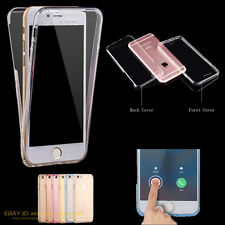 TPU Silikon Full Cover für iPhone SE 5 6 6s 7 Plus 360° Schutz Hülle Bumper Case
