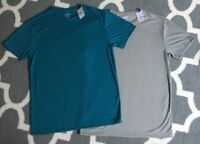 Men's J Crew Crew Neck T Shirt Large New NWT Lot 2 Gray & Teal Soft! Authentic S