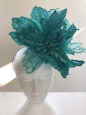 Green Flower Fascinator - Made In Aus - A00104