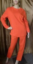 $170 ESCADA SPORT Orange Cotton Blend Lounge Sweat Pant Suit M NWT