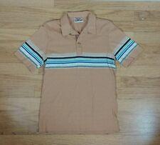 Minty Nos Vtg 70s Encino Surf Stripe Polo Shirt Tee Small Usa